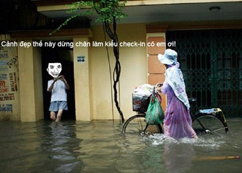 Ảnh chế hài hước: Hà Lội ngập lụt