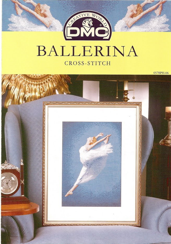 craft home decor: ballerina embroidery