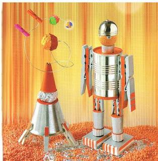 Robot Con Un Poco De Imaginacion Y Con Material Reciclado Podras