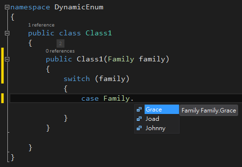 DynamicEnum Intellisense