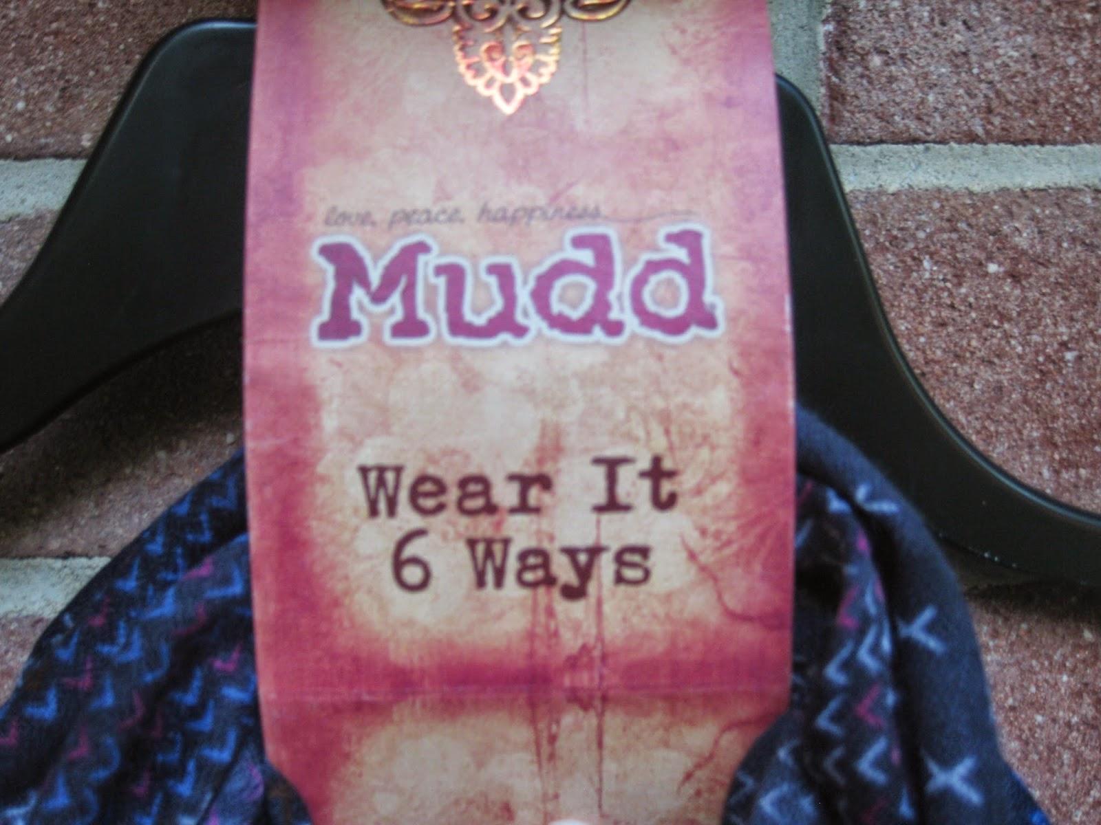 """Mudd """"Wear It 6 Ways"""" Cross-Stitch Infinity Scarf"""
