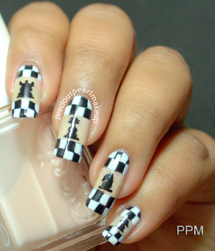 Preciouspearlmakeup march 2014 i love playing indoor games but i never aced in chess it is the one game which i never really enjoyed playing but today i loved creating the nail art prinsesfo Image collections
