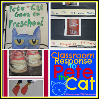 photo of: Extension Ideas for 'Pete the Cat' picture books in PreK + K