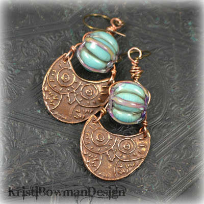 Owl, Copper, Copprclay, pmc, metal clay, kristi bowman design, kristibowmandesign, earrings