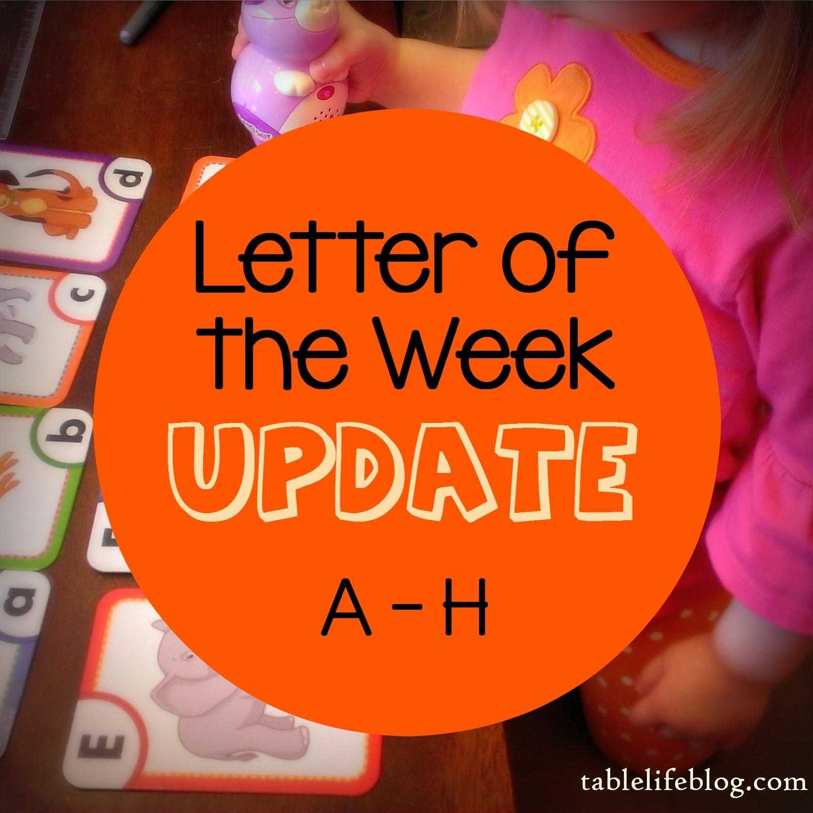 Preschool Early Learning Homeschool Letter of the Week Update