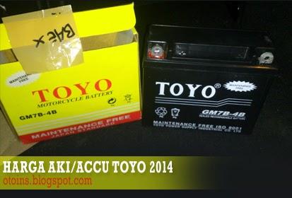 Rincian Harga Aki Motor Toyo Terbaru 2015