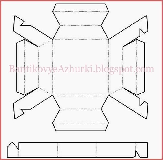 Схема плоской четырехугольной коробочки