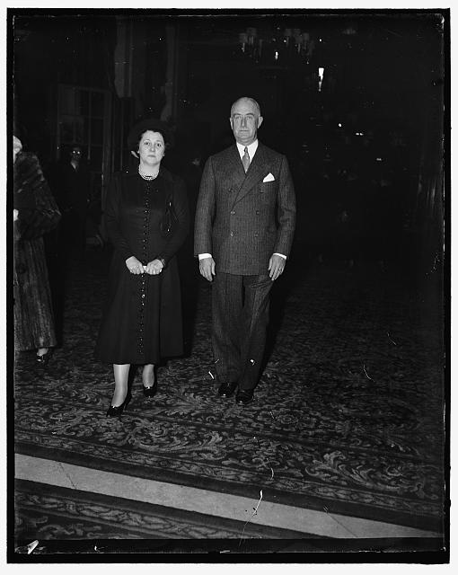 2/1/37: Colonel and Mrs. Starling attend musical. Washington D.C. Colonel and Mrs. Edward Starling