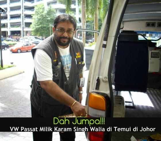VW Passat Milik Karam Singh Walia di Temui di Johor