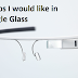 7 Apps I'd like in Google Glass