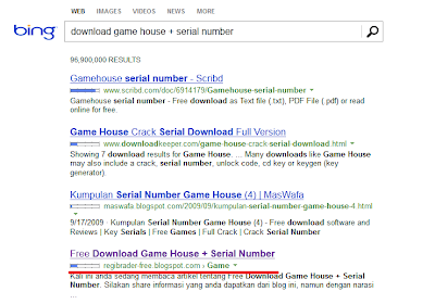 Blog tampil pada hasil pencarian Bing