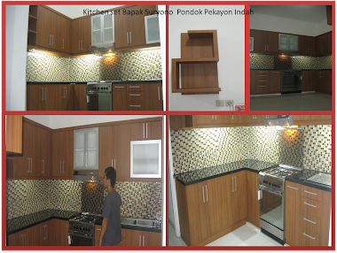 kitchen set bapak Suryono Vila pekayon indah