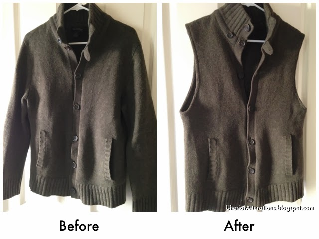 Ulterior Alterations Wool Sweater to Vest Refashion