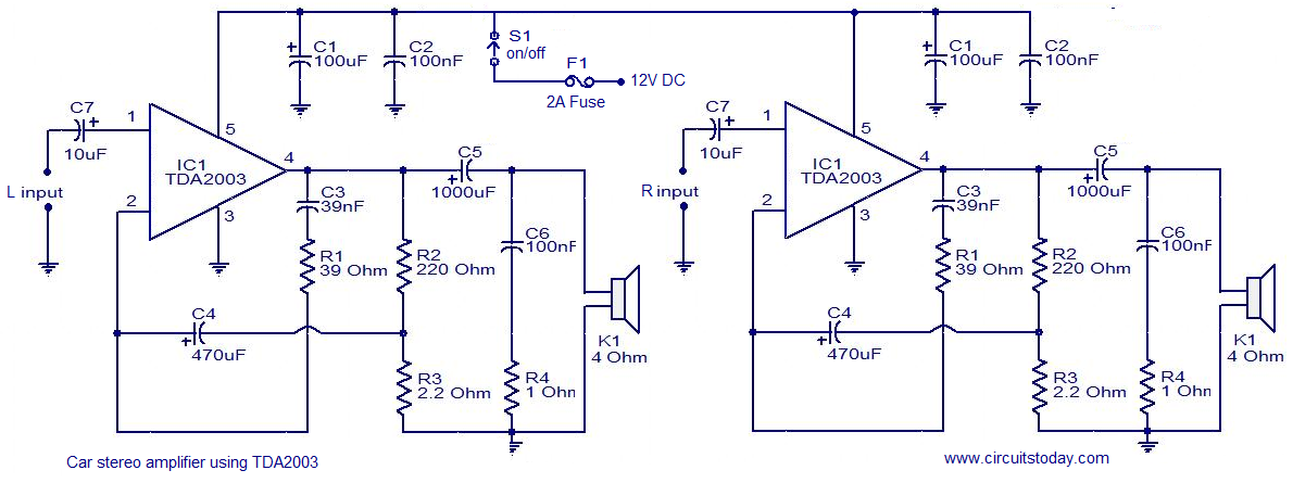 car audio amplifier circuit schematic diagram the circuit rh easycircuit012 blogspot com audio amplifier schematic diagram free audio booster schematic diagram