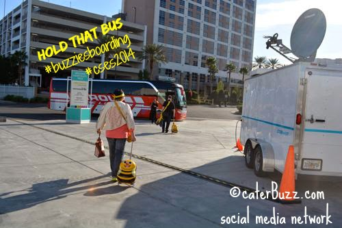 © caterBuzz.com social media network - Dianne Evans with roll-e-bee in Las VEGAS