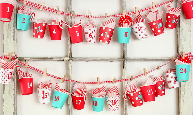 diy bucket advent calendar