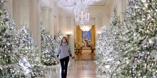 2017 christmas decorations at the white house - The White House Christmas Decorations 2017