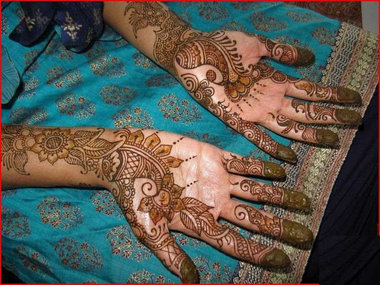 Mehndi Party List : Mehndi design for hands arabic party