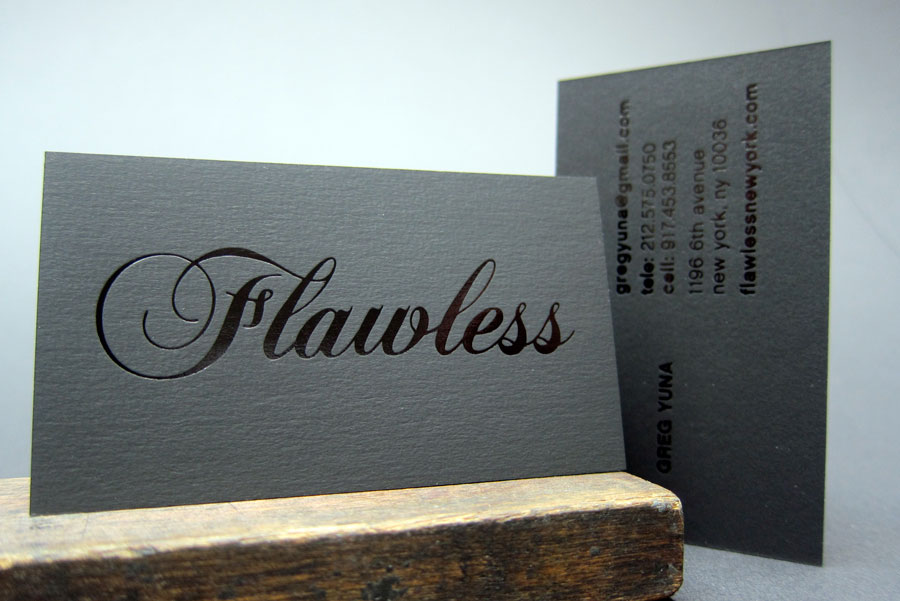 Publicide inc nyc printing letterpress and design flawless black foil stamp letterpress business card best printer nyc reheart Image collections