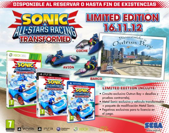 de Sonic & All-Stars Racing Transformed para Xbox 360, PS3 y PS Vita
