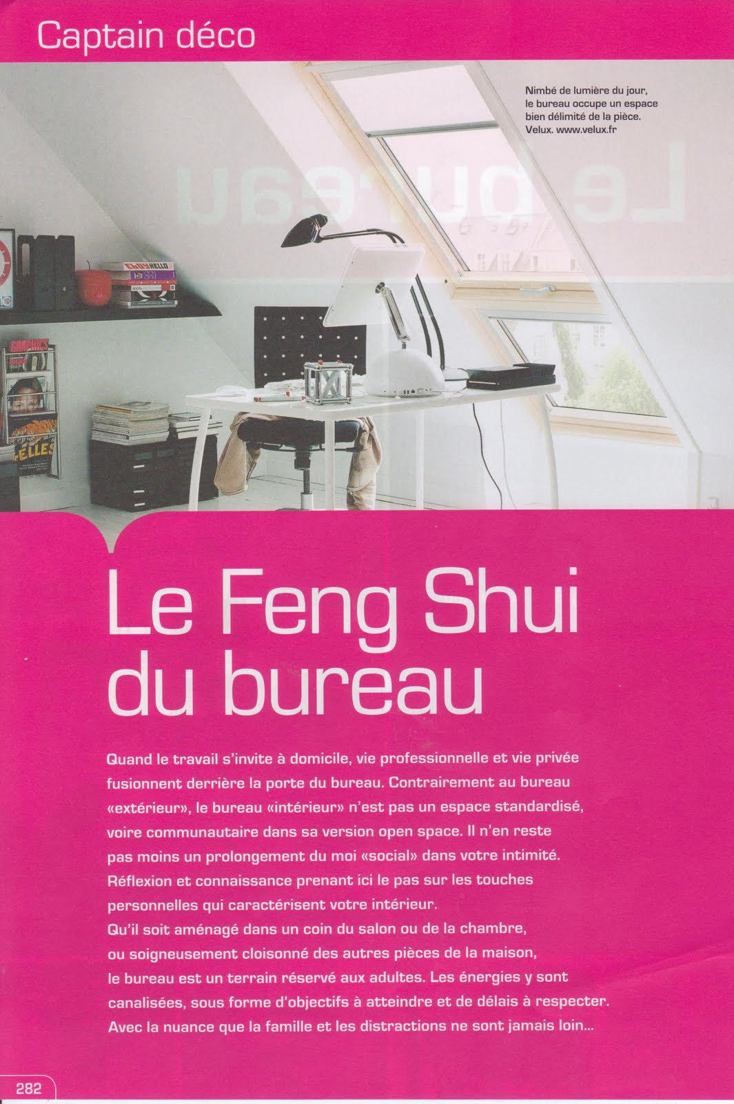 notre atelier feng shui le bureau. Black Bedroom Furniture Sets. Home Design Ideas