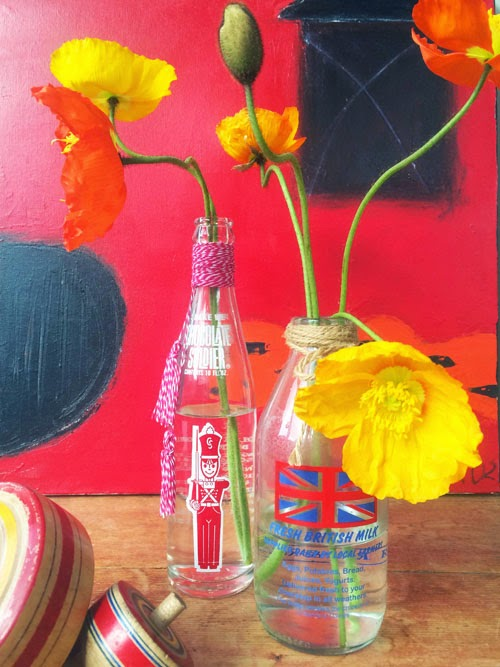upcycled bottles via small acorns blog