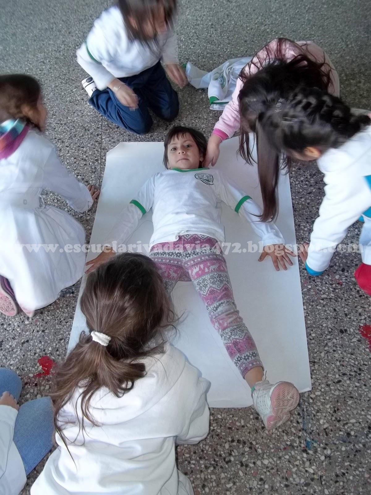 Silueta del cuerpo humano. – Escuela Bernardino Rivadavia
