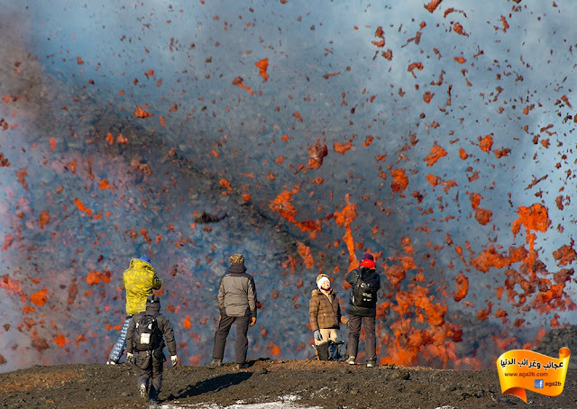 ثورة البركان في جزيرة كامتشاتكا، روسيا صور وفيديو