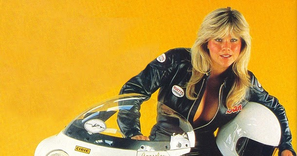 motorcycle girl 064 samantha fox return of the cafe racers