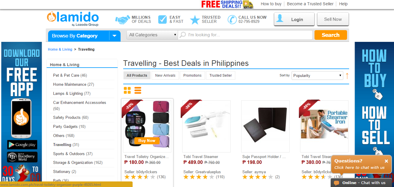 12 Days of Black Friday Sale at Lamido Travel Items Philippines