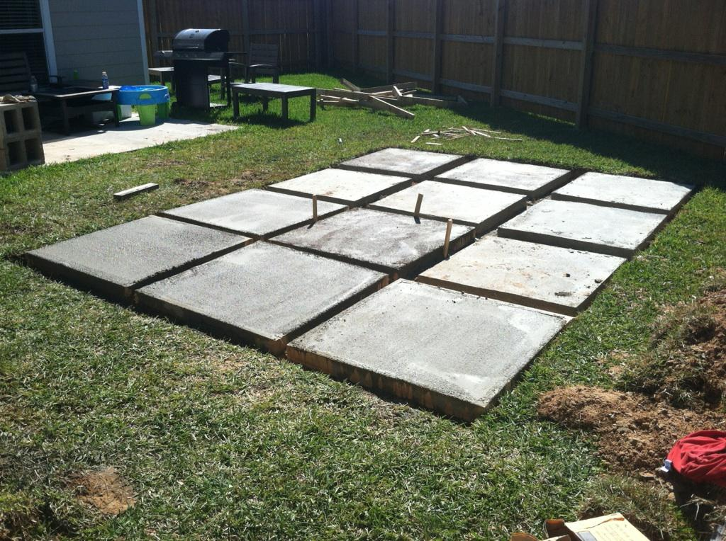 A roll acosta life diy backyard patio part 2 - How to build an inexpensive home ideas ...