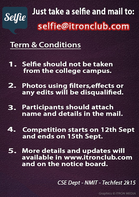 Selfie Competition  - TECHFEST 2k15