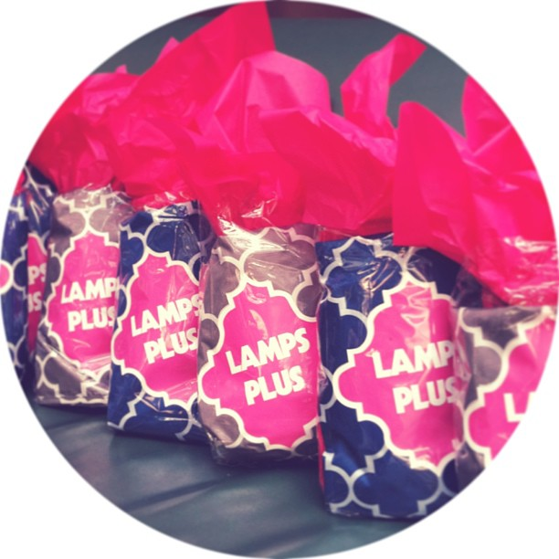 Lamps Plus Gift Bags for Design Bloggers Conference