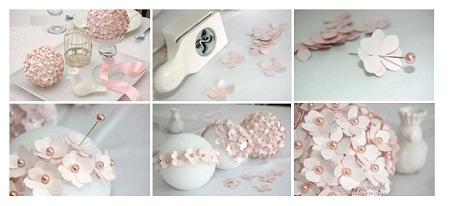 Como hacer adornos con flores ideas para - Como hacer bolas para decorar ...