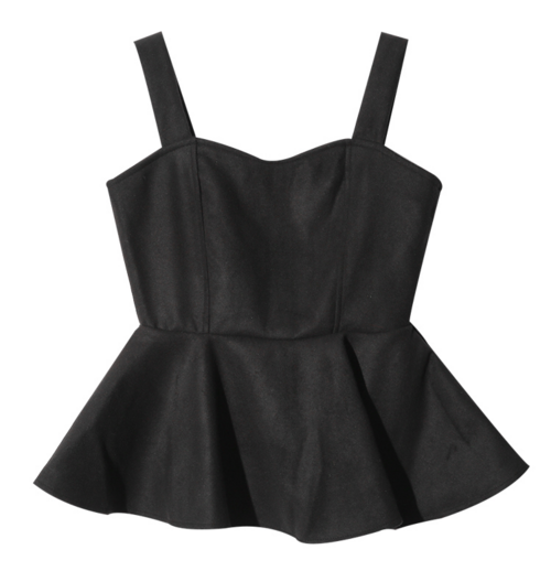 Sweetheart Neck Peplum Top