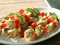 Espetinho de Legumes e Cogumelos (vegana)