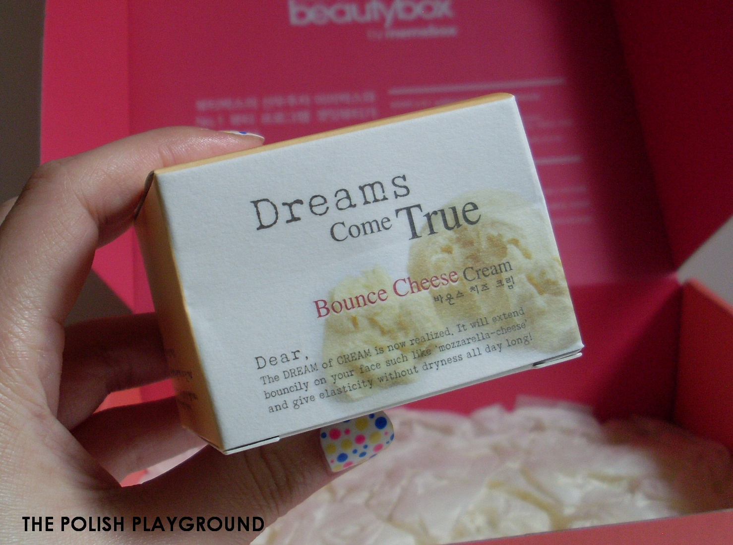 Memebox Luckybox #1 Unboxing and First Impressions - Dear by Enprani Bounce Cheese Cream