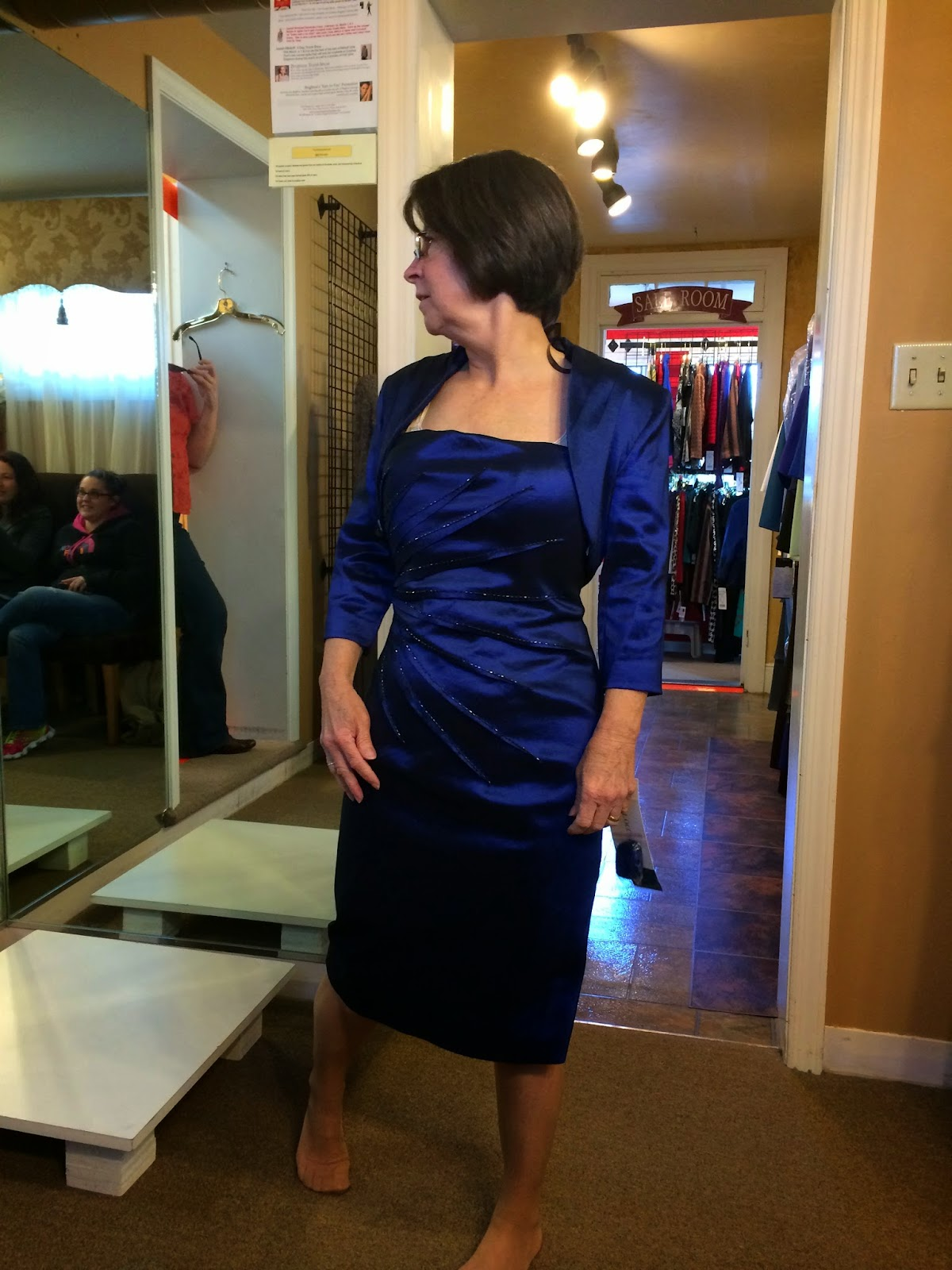 Doeblerghini Bunch: MOB Dresses - Blue Silk with Jacket