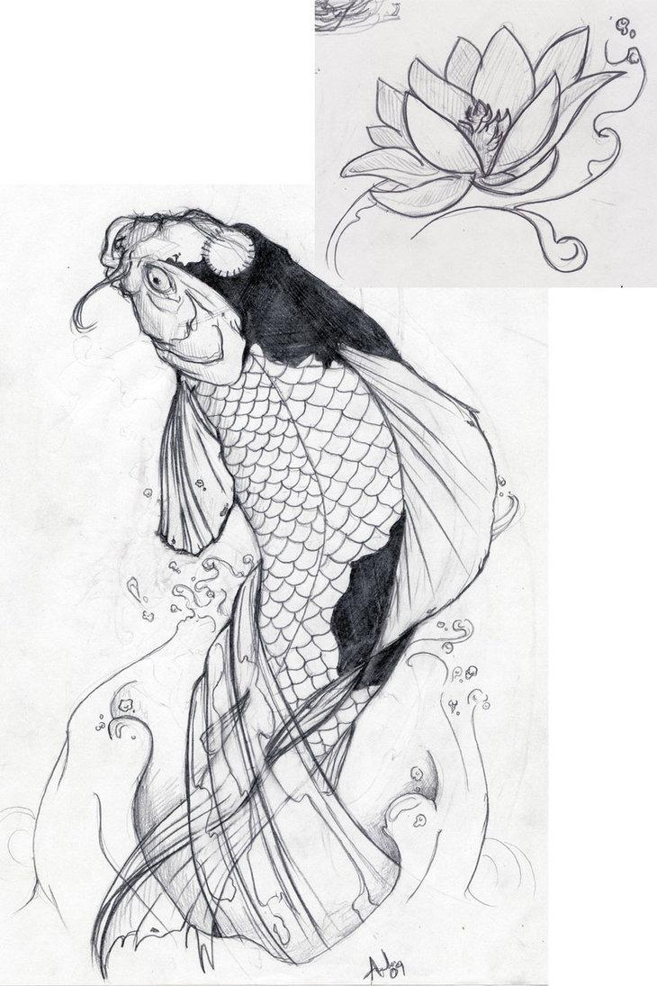 Rock roll never forgets la carpa koi nei tatuaggi for Koi fish design