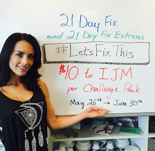 21 Day Fix, 21 Day Fix Extreme, IJM, International Justice Mission, Autumn Calabrese #letsfixthis