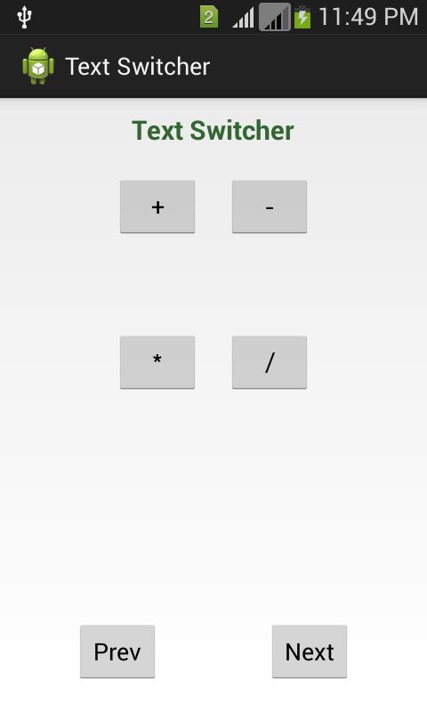 TextSwitcher Functionality