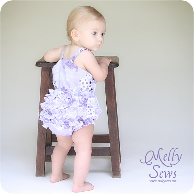 Romper tutorial and free pattern by Melly Sews