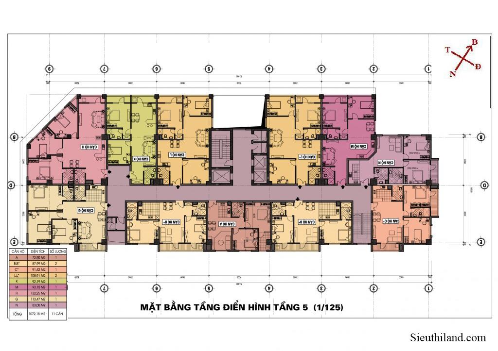 Dự án chung cư 69 Triều Khúc Tầng 5
