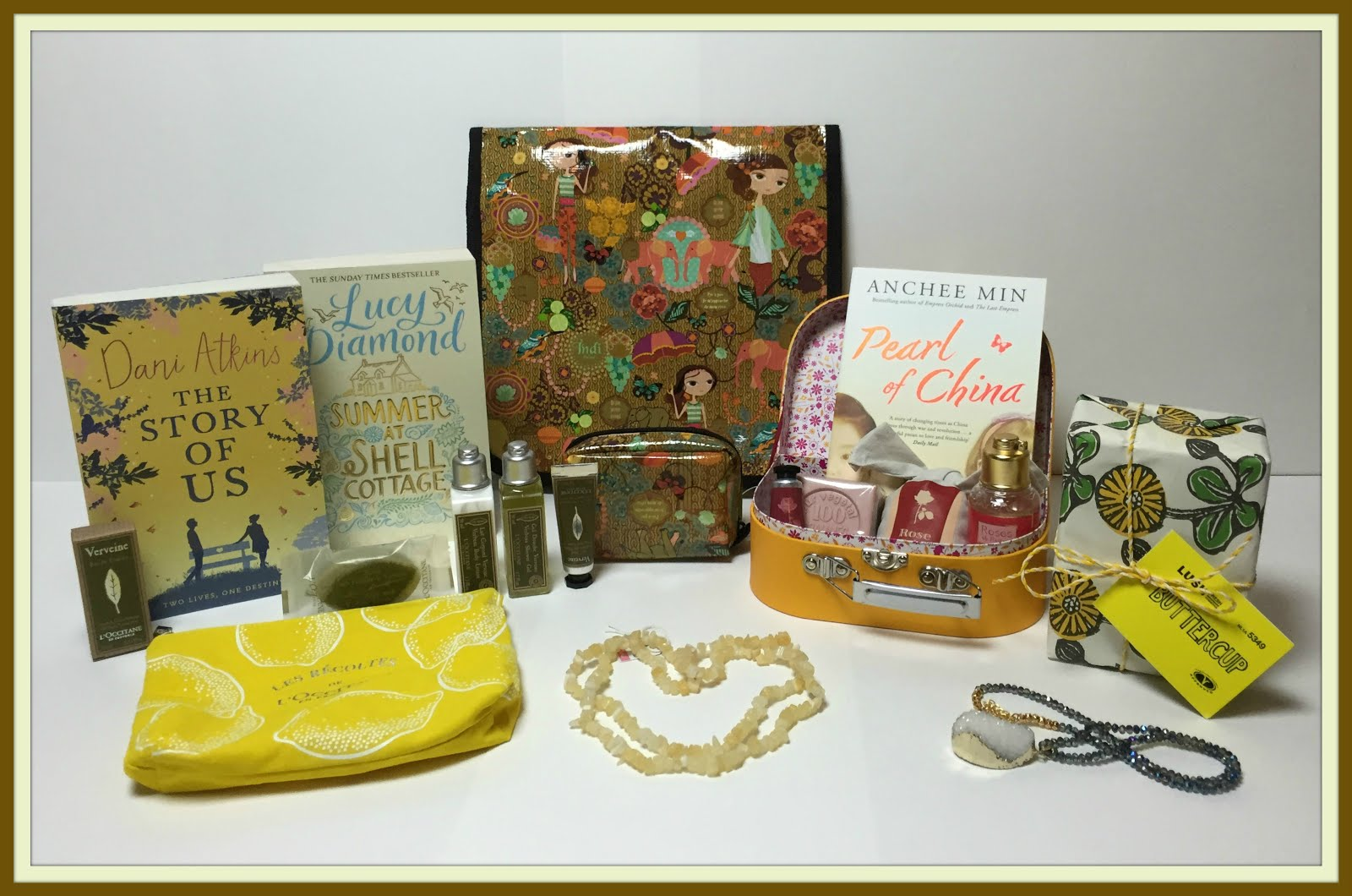 L'Occitane, Lush, Books & Gemstone Necklaces