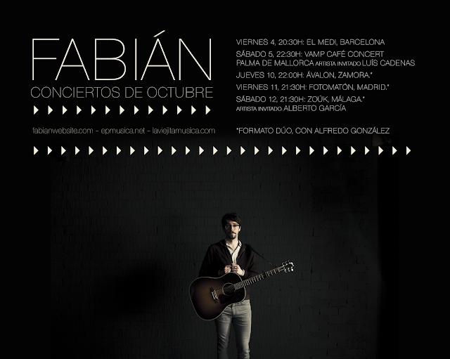 Fabián, conciertos octubre