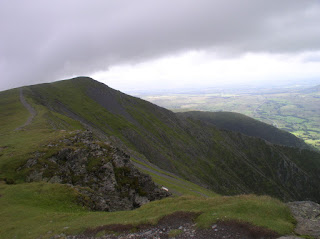 Looking back at the Hall's Fell ridge on Blencathra