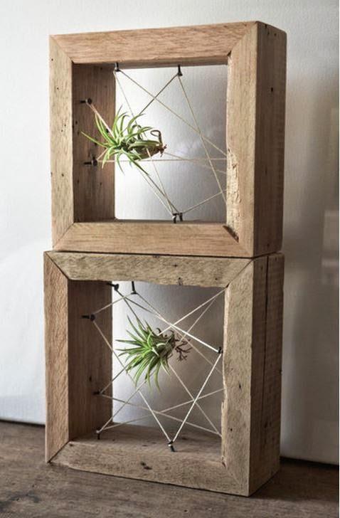 Yarn scrap ideas - String to make air plant display