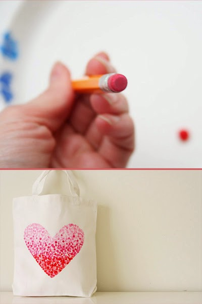 DIY valentine's heart bag