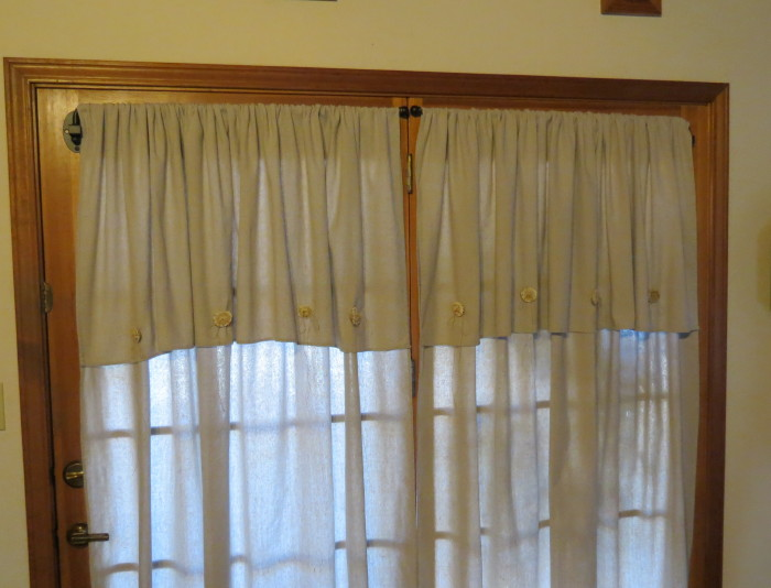 Curtains Ideas curtains made from painters drop cloths : Timeless Treasures: Painter's Drop Cloth Drapes.Antler horn buttons