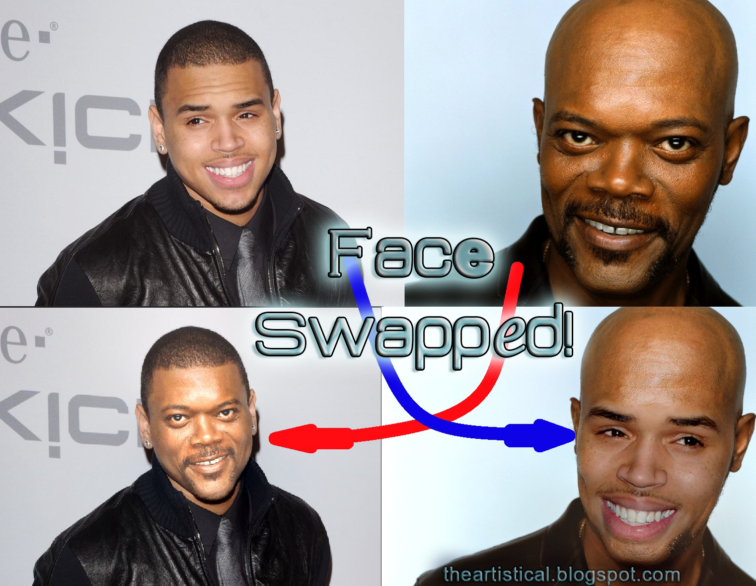 TheArtistical : Tutorial : Advanced face swap ( Auto-blend )